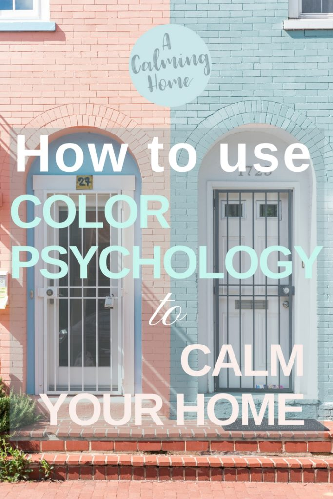 color psychology to calm home