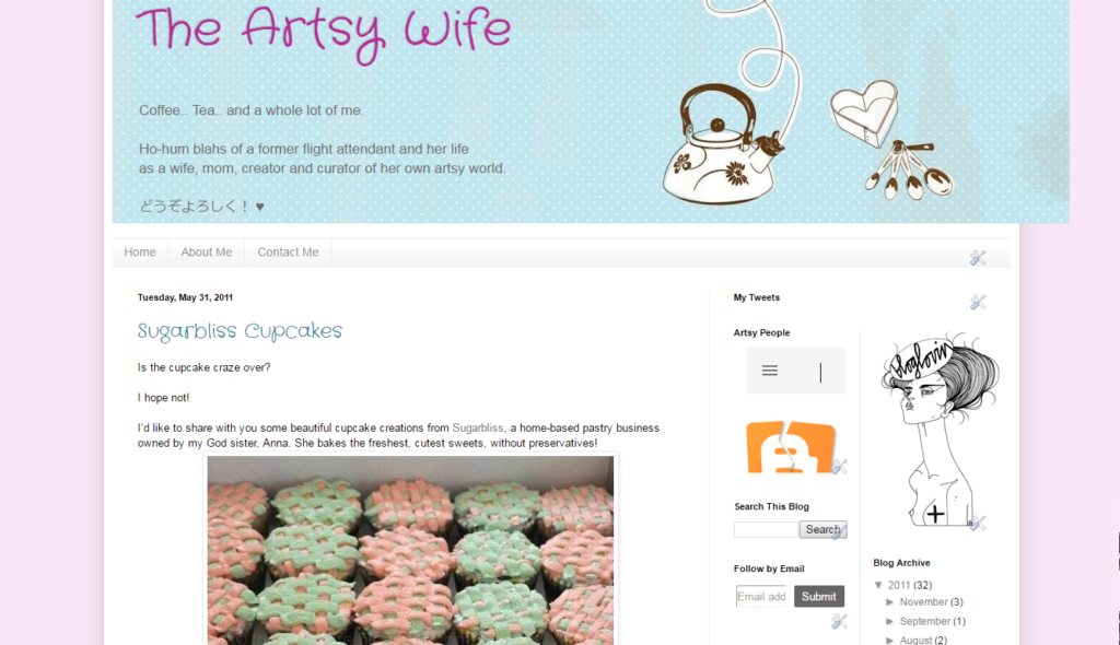 the artsy wife is an old blog site for DIY & crafting