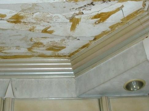 rubbercement as wallpaper glue in ceiling
