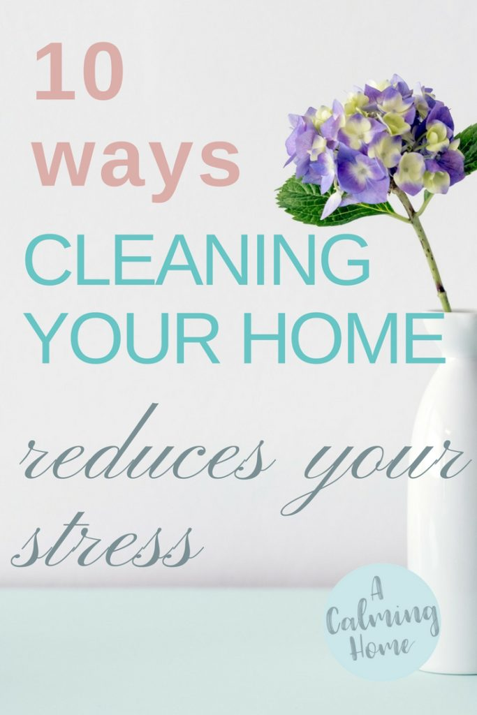 cleaning home reduces stress