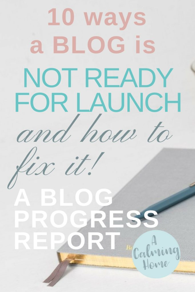blog not ready for launch progress report
