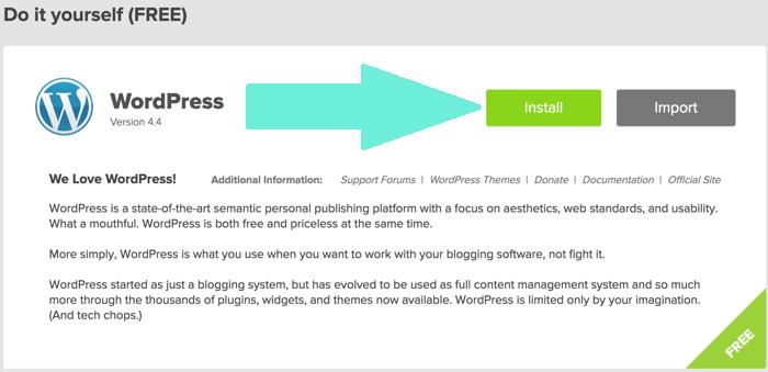 install wordpress on bluehost hosting