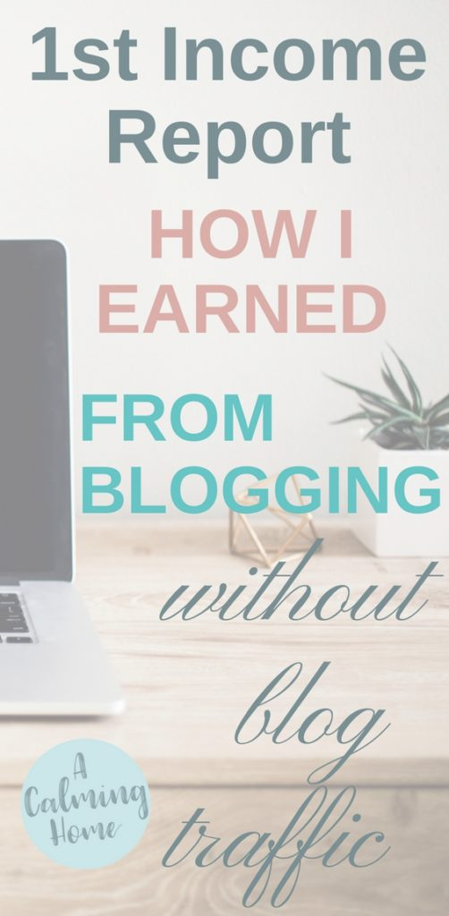 This first income report reveals how to earn from blogging with no blog traffic