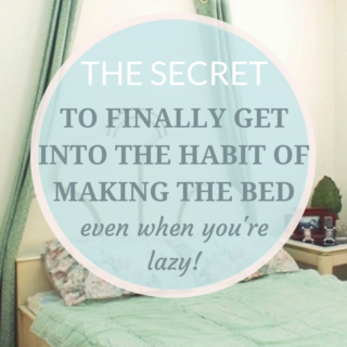 make the bed habit even if lazy