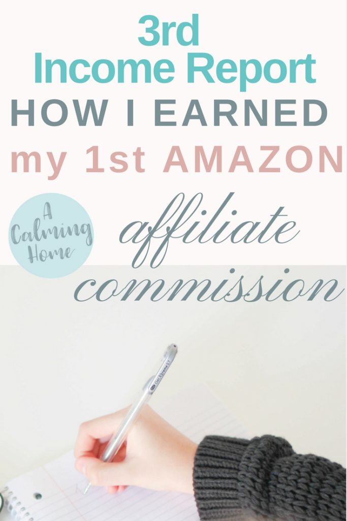3rd month blogging income reports how I earned my 1st Amazon affiliate commission