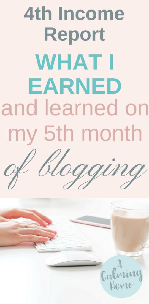 4th income report shows what i earned my 5th month as a new blogger