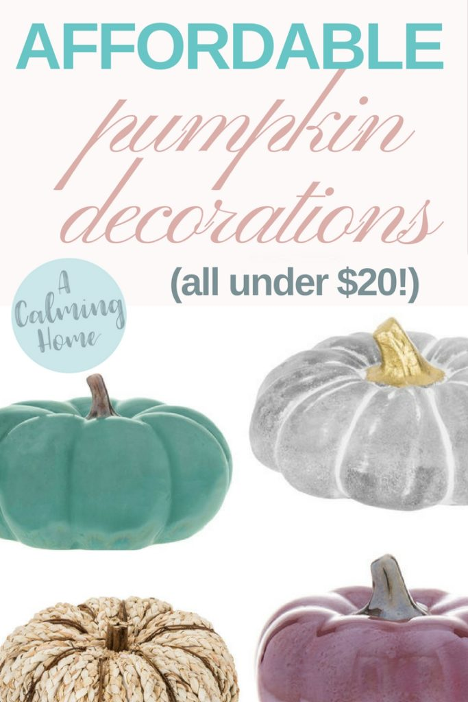 affordable fall pumpkin decorations
