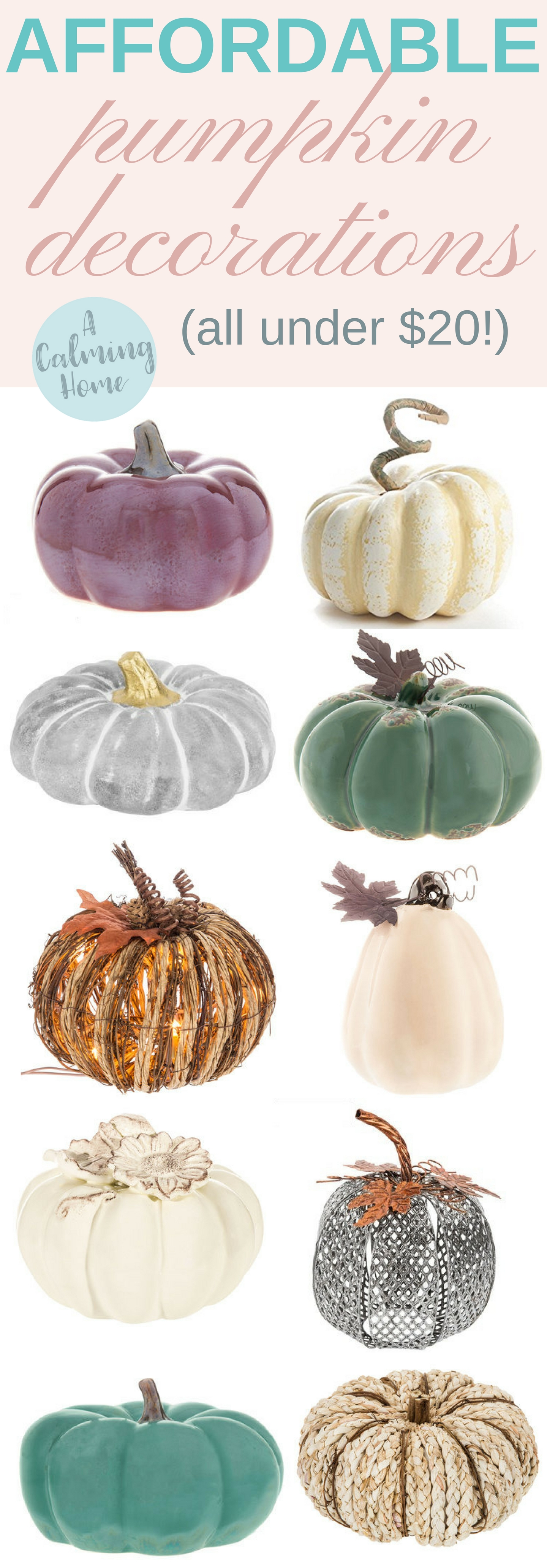 affordable pumpkin decorations