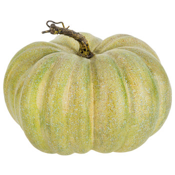 green speckeled pumpkin decor