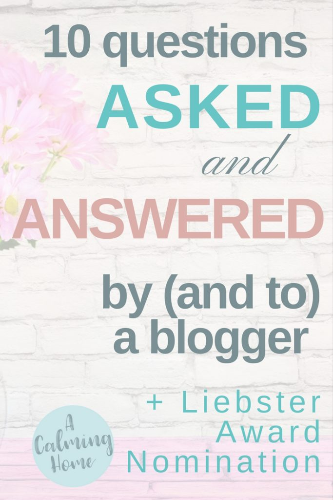Questions asked (ask and answer) by a blogger and liebster award nomination