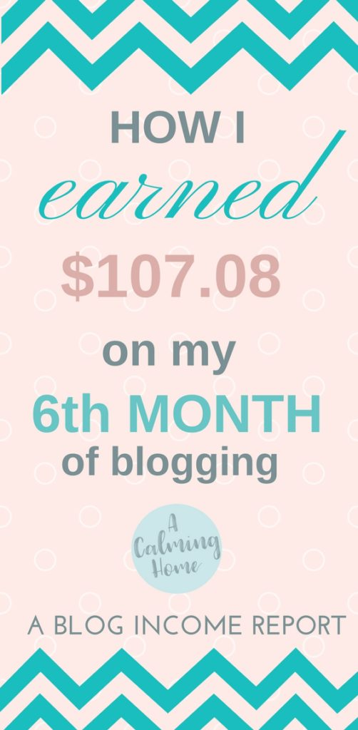This blog income reports what I earned on my 6th month of blogging