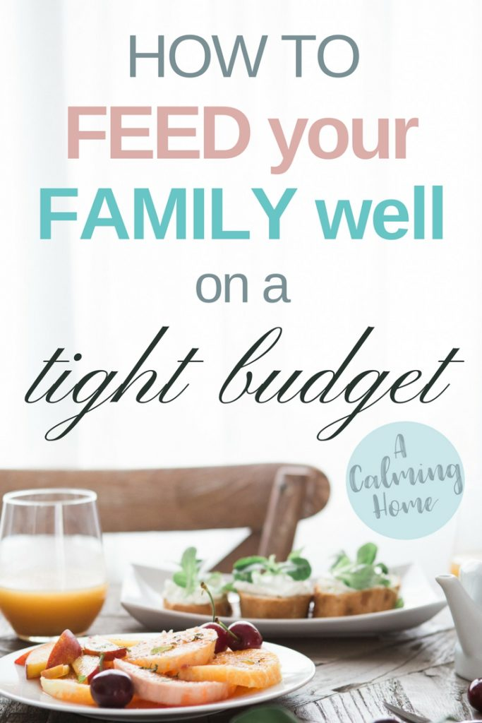 how to feed your family on a tight budget
