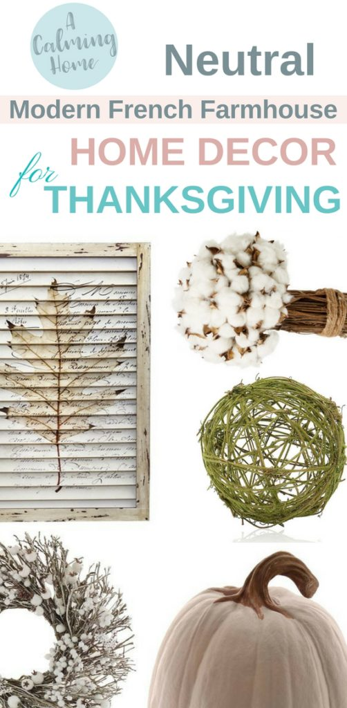 neutral colors for thanksgiving inspired by modern french farmhouse home decor
